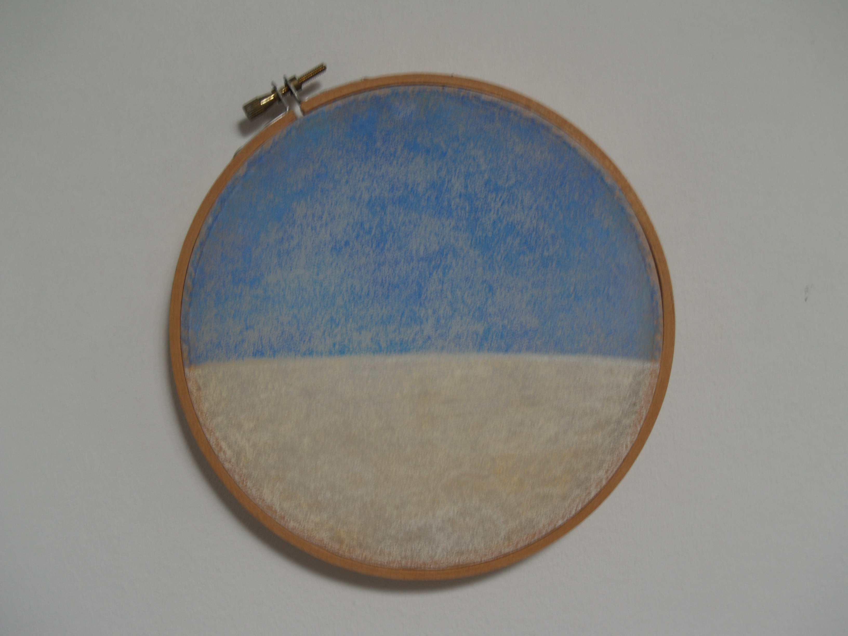 Schilderij met de titel patrijspoortje van beeldend kunstenaar Saskia Zwiers uit 1990
