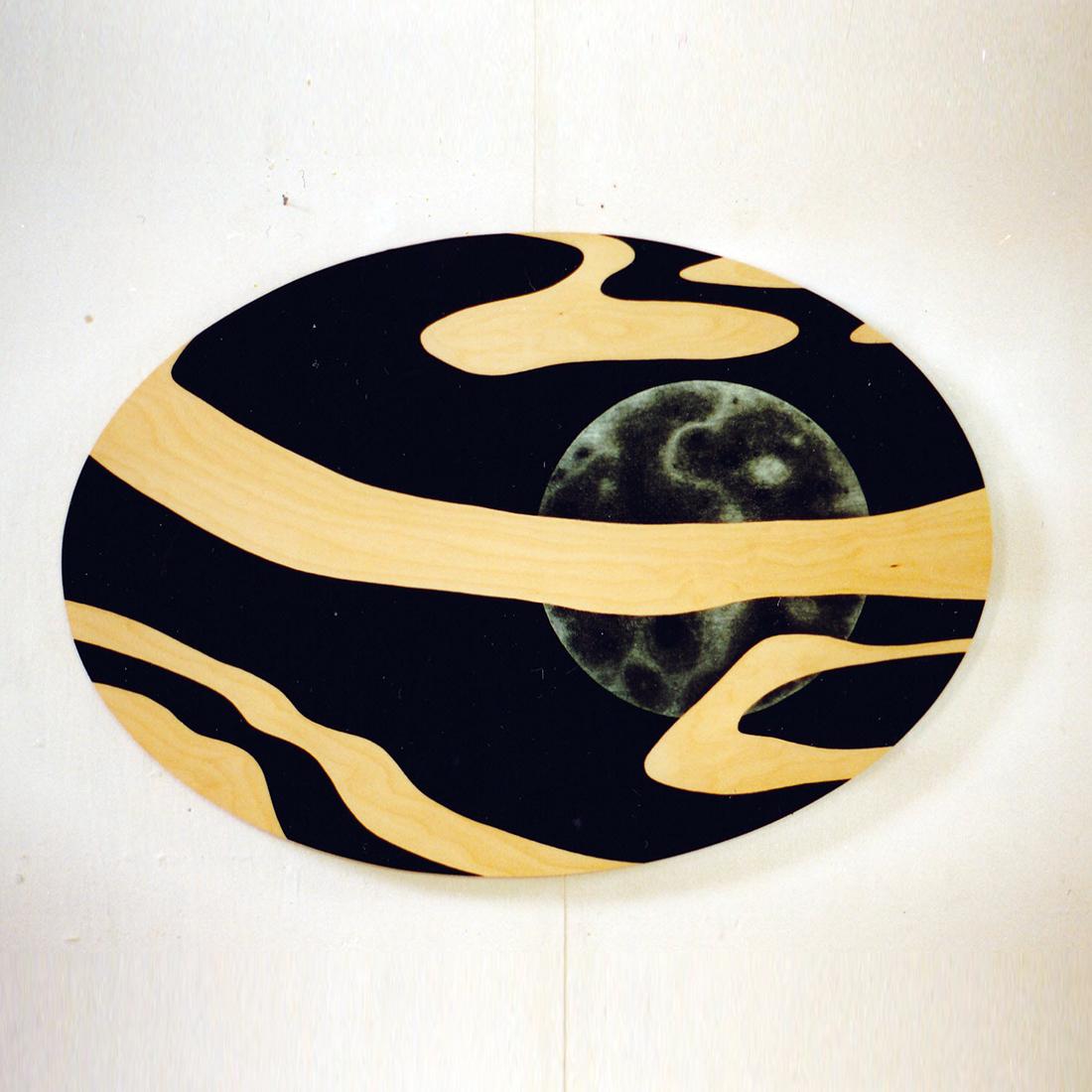 Schilderij uit 1995 met de titel Ryuho naar een Japanse haikudichter gemaakt door beeldend kunstenaar Saskia Zwiers uit Zwolle