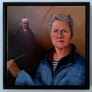 Saskia Zwiers Zelfportret met Rembrandt, 2017